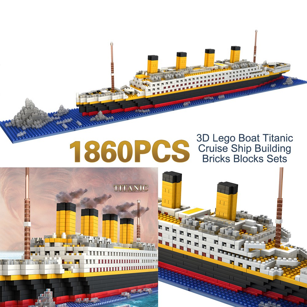 Titanic Cruise Ship Building Sets Lego Nano Bricks 3D DIY Educational Play Kit
