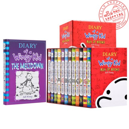 14 Books Diary Of A Wimpy Kid With Box Set Shopee Malaysia
