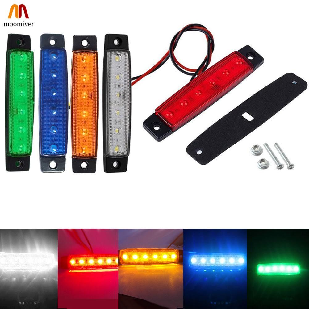 10 pcs SET 12V SMD LED RED REAR SIDE MARKER LIGHTS POSITION TRUCK TRAILER LORRY