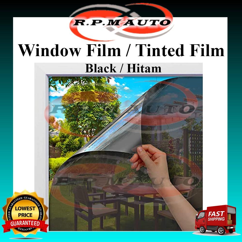 Black Window film Window Film Privacy Window Film One-Way Mirror UV Protection Window Tint tinted dinding hitam rumah