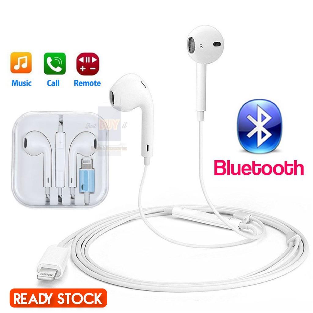 iPhone Bluetooth Earphone Apple Earpod Lightning iPhone 7 8 X XS XS MAX  Earbuds iPad iPod Wire Earbuds Ready Stock