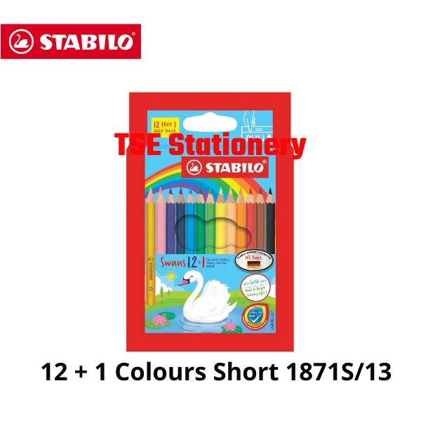 Stabilo Swans 12 Short 12 Long 24 Long 36 Long 48 Long Colour / Color Pencil Pensel Warna 1873 1877 1879 1876 1878 1870S