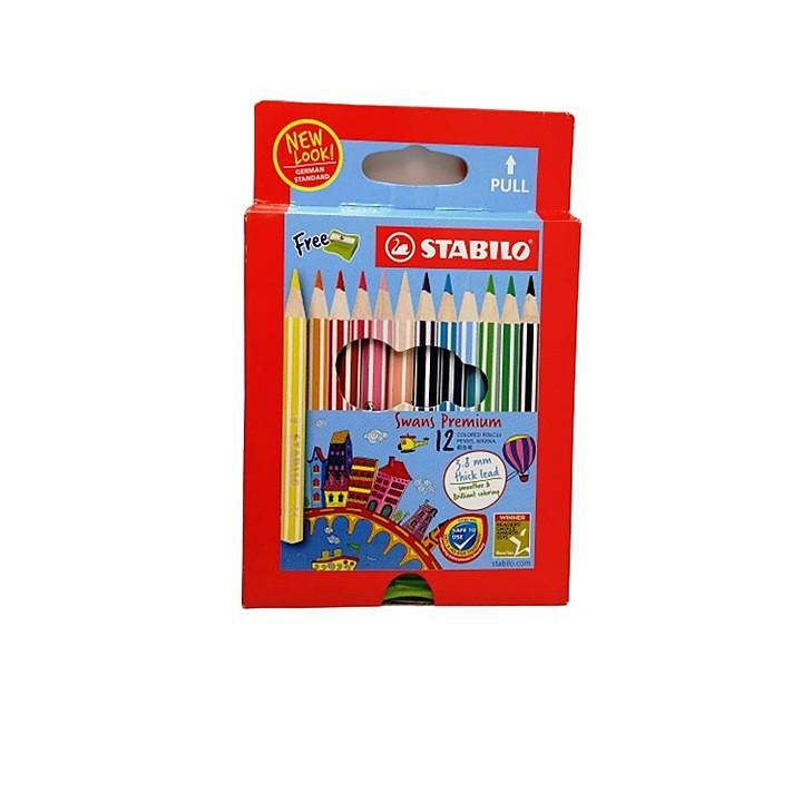 Stabilo Swans Colour Pencil 12 Colour (1863B)