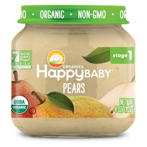 Happy Baby Stage 1 Organic Clearly Crafted Jar (113g)