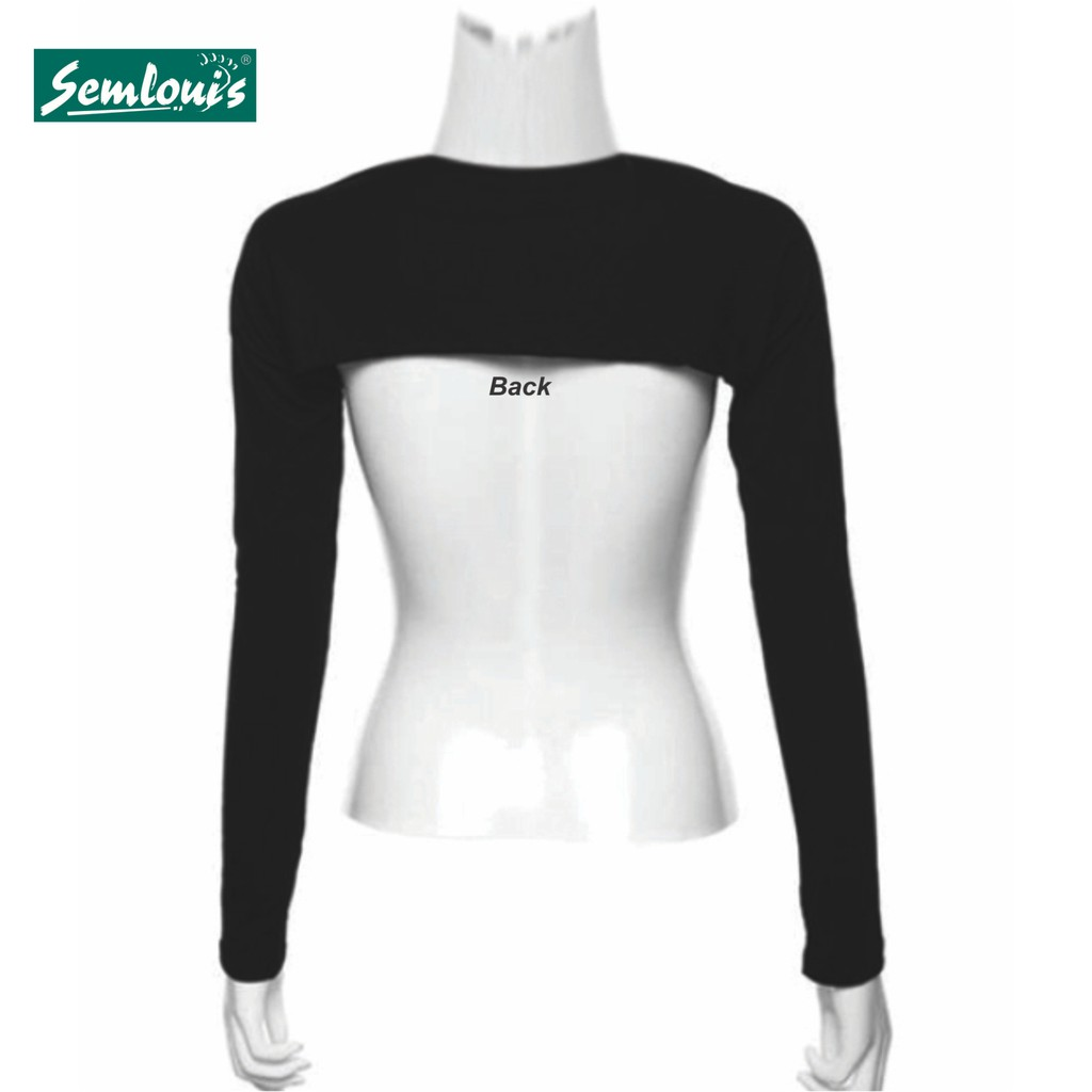 Ready Stock Semlouis Aurat Inner Lengan / Handsocks (Modal Cotton) - Black