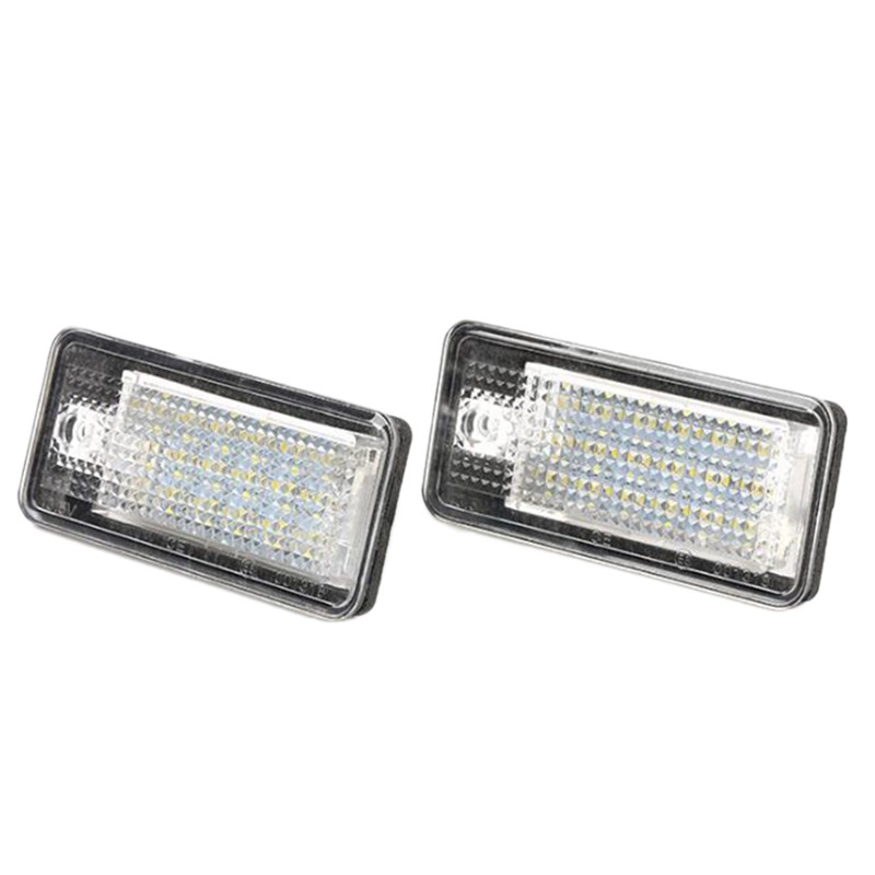 1Pair 18 LED License Plate Light Lamp Bulb Fit for A3 A6 A8 Q7 S4 S6 A4 Quattro
