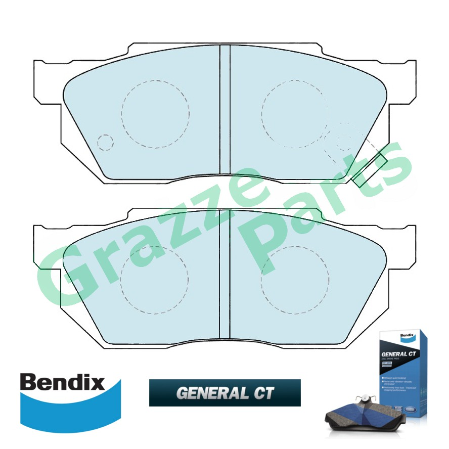 Bendix General CT Disc Brake Pad Front for DB300P DB2289 Honda Accord SA6 SA6Y City SH4 Prelude EG4