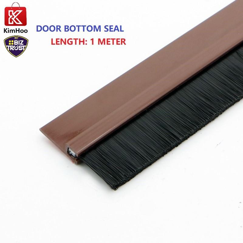Heavy Duty Door Bottom Seal with Brush 1 meter (Penutup Bawah Pintu)