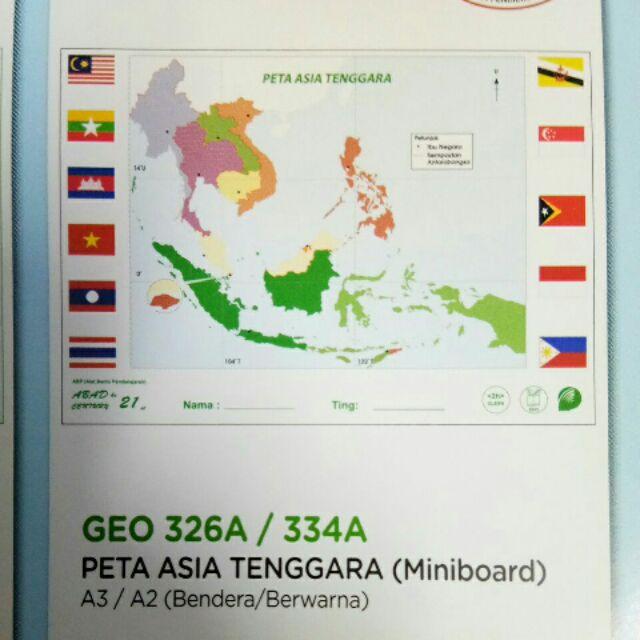 Abad21 Peta Asia Tenggara Shopee Malaysia Download Gambar