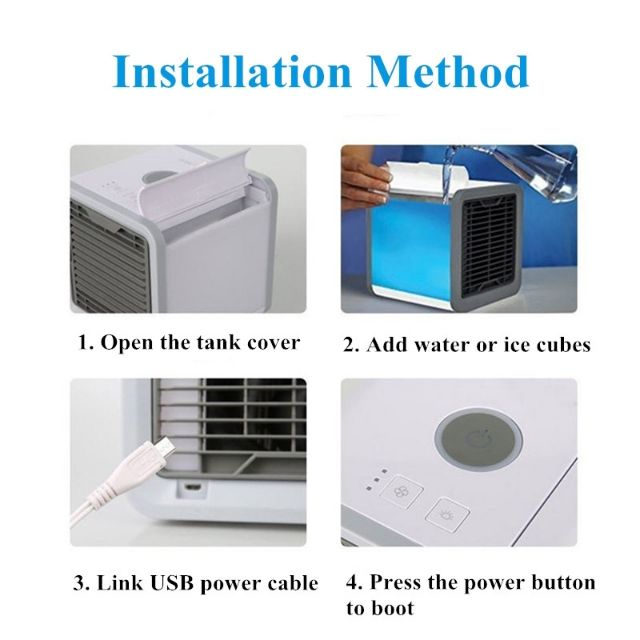 Portable Mini Air Conditioner Water Cool Cooling Fan Artic Cooler Humidifier HJ