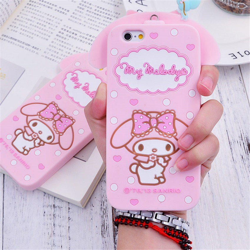 1ec8075c3 ProductImage. ProductImage. Cute Hello Kitty My Melody Love Soft Phone Case  for IPhone ...