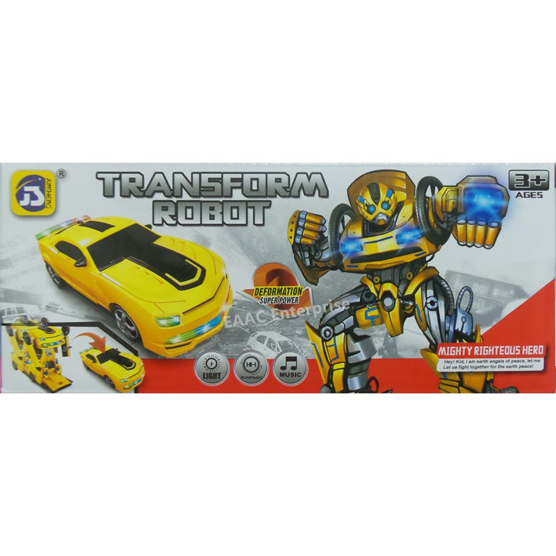 Bumble bee Transformer Robot Bump and Go Car - A toy for Kids Toys