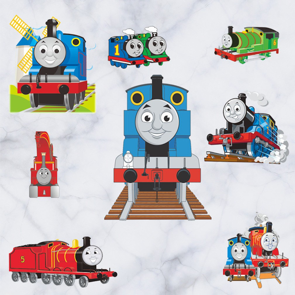 THOMAS TANK ENGINE Hole in the wall view Decal Sticker Decor Mural