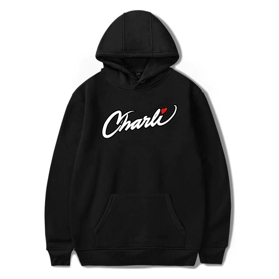 2020 New Merch Charli D'Amelio Charli Script Hoodies Sweatshirts For Men