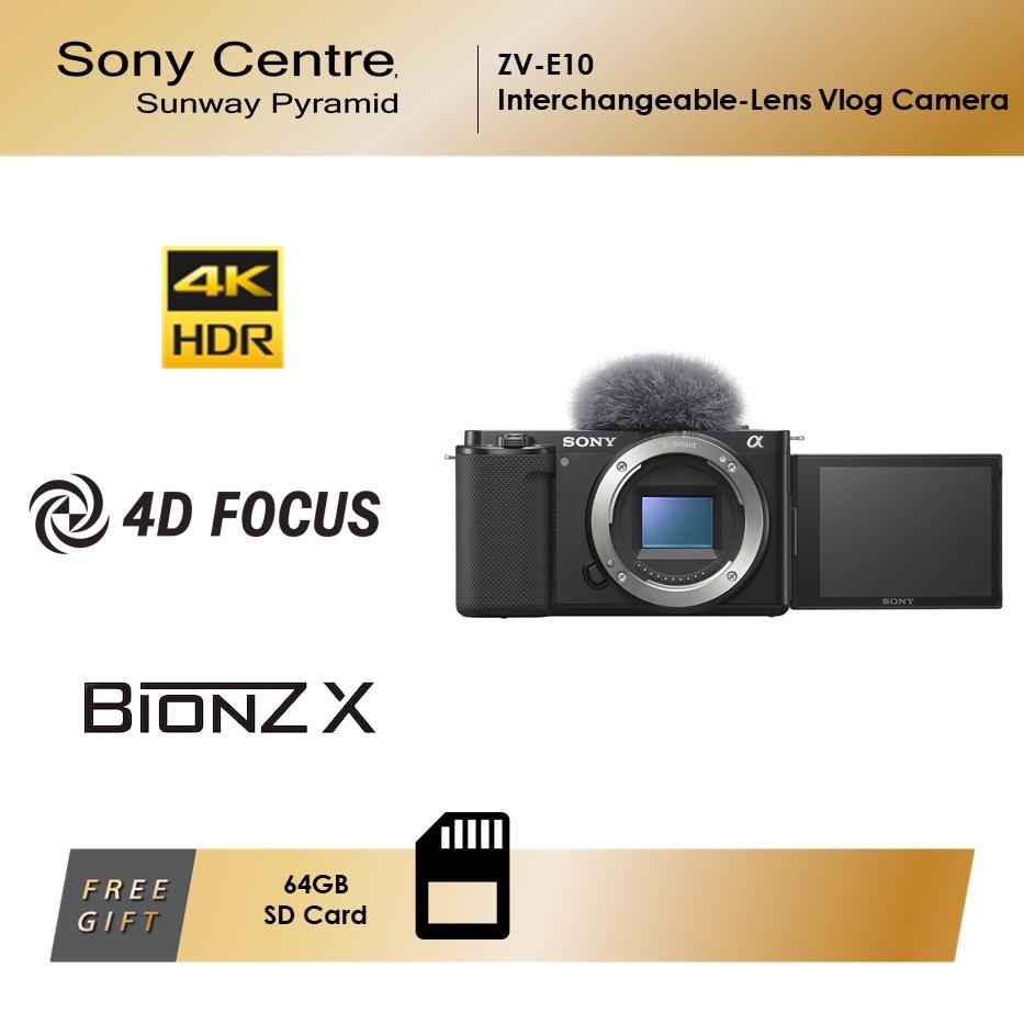 [PRE-ORDER] SONY ZV-E10 Interchangeable-lens Vlog Camera (Body Only)