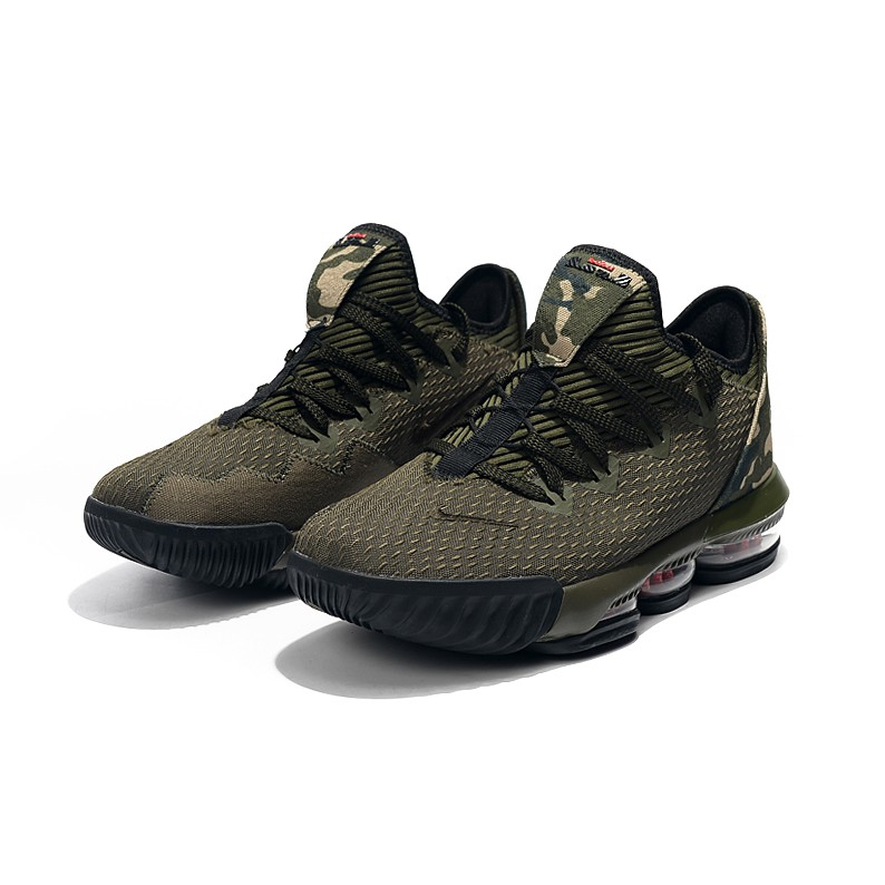 online retailer 90f06 5235f Original Nike LeBron 16 Low James 16 Army Green Lower Gang