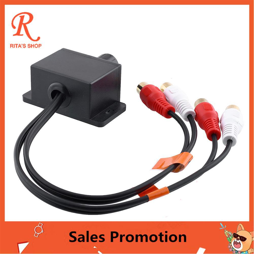 Car Automobile Audio RCA Level Remote External Volume