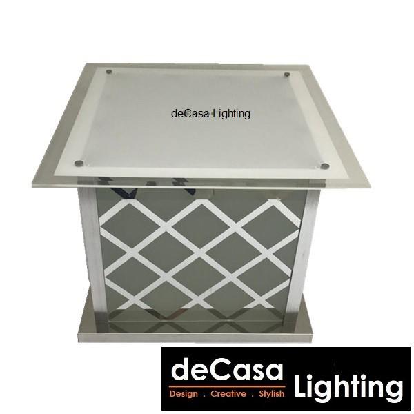 DECASA LIGHTING 500x500mm Pillar Light Lampu Pagar Hiasan Weather Proof Outdoor Gate Light Optional Set with Bulb 6727