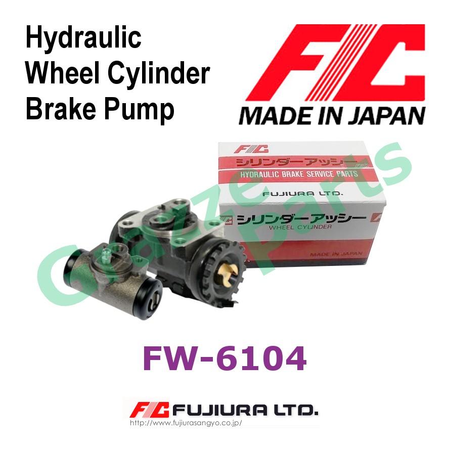 "FIC Made in Japan Brake Pump Wheel Cylinder Rear LH FW6104 for Isuzu Hicom MTB150DX NKR 6.5 - 1"""