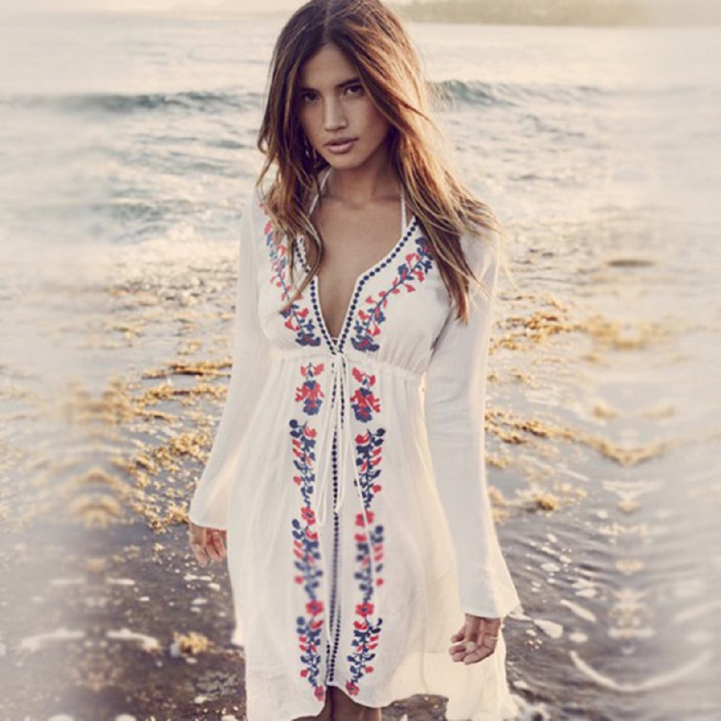 043ceb8e274f9 Sexy Women Summer Beach Dress Swimwear Lace Crochet Bikini Cover Up Bathing  Suit