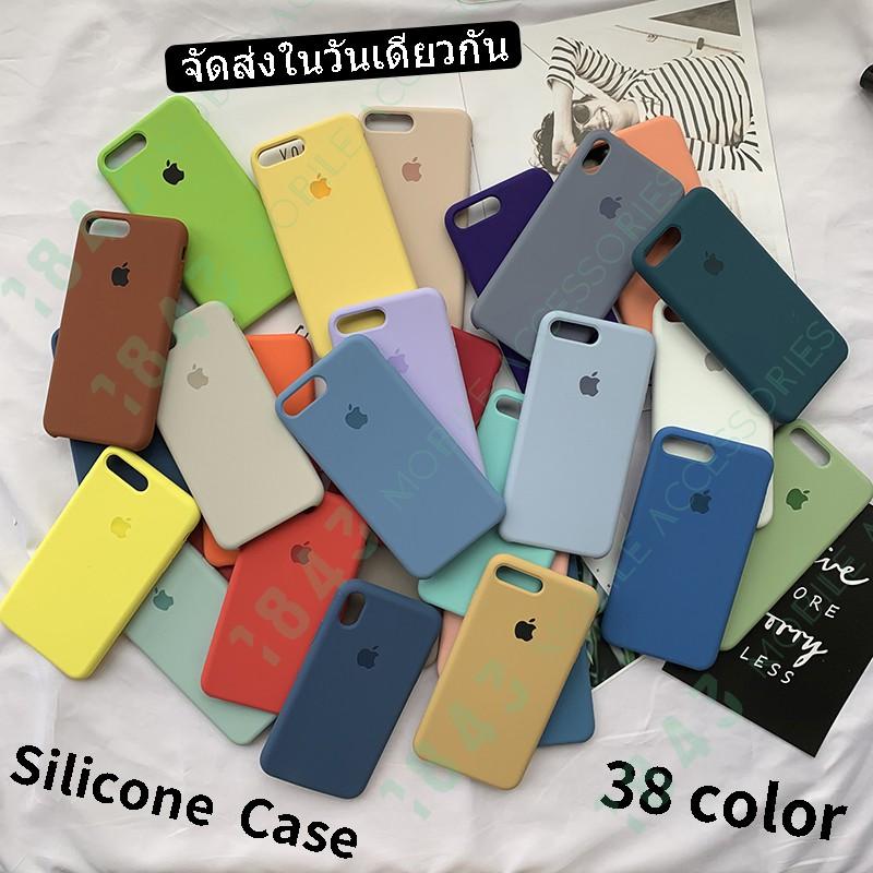 【Silicone Case】เคสโทรศัพท์ซิลิโคน For iPhone 6/6s/6plus/6splus/7/8/7plus/8plus/X/XS/XR/