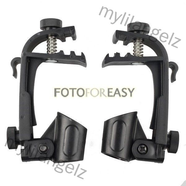 Mylilangelz 2 Pcs Adjustable Clip On Drum Rim Shock Mount Microphone Mic Clamp Holder
