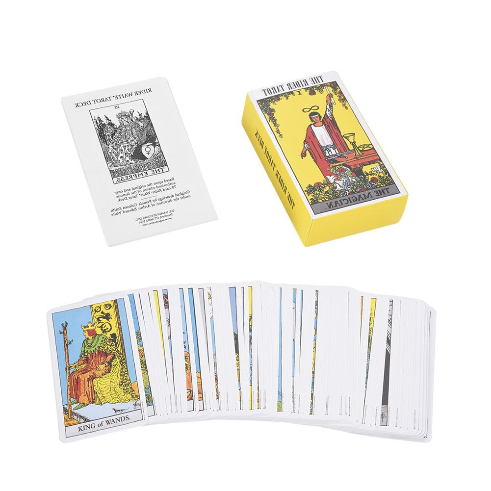 78pcs Destiny Tarot Cards Fortune Telling Cards Table Party Games Tarot Deck