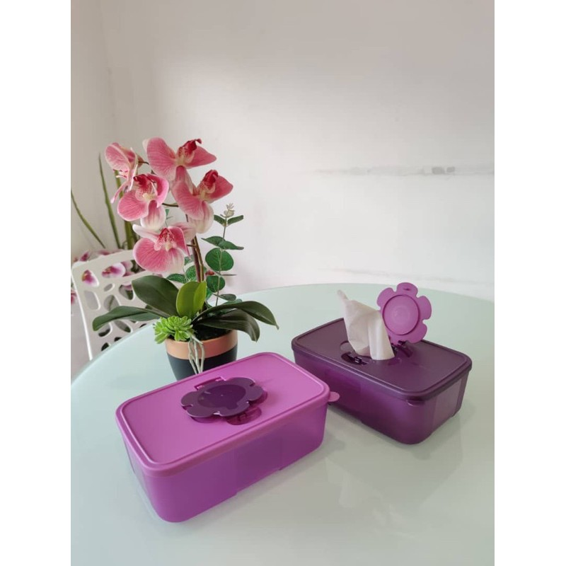 purple royal tissue box 1pc light purple & purple