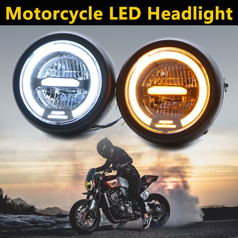 High Low Beam Sport Front LED Light Motorcycle LED E-Mark Head Lamp