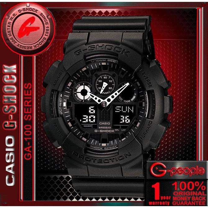 df96b478aaf CASIO G-SHOCK GA-100-1A1DR   GA-100-1A1   GA-100 WATCH 100% ORIGINAL ...