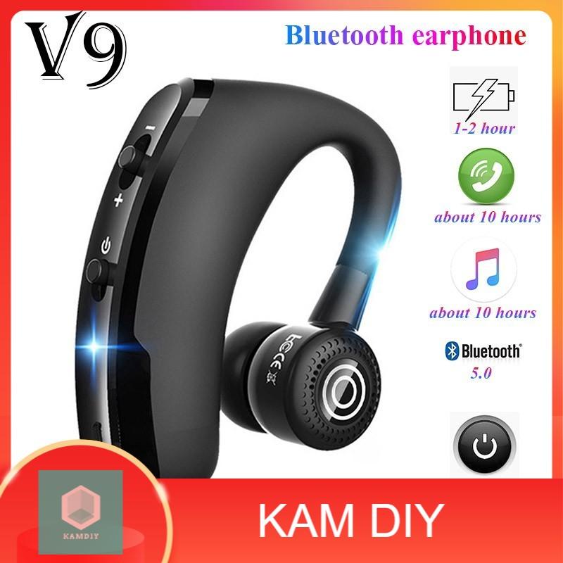 V9 earphones Bluetooth headphones Handsfree wireless headset Business headset Drive Call Sports earphones