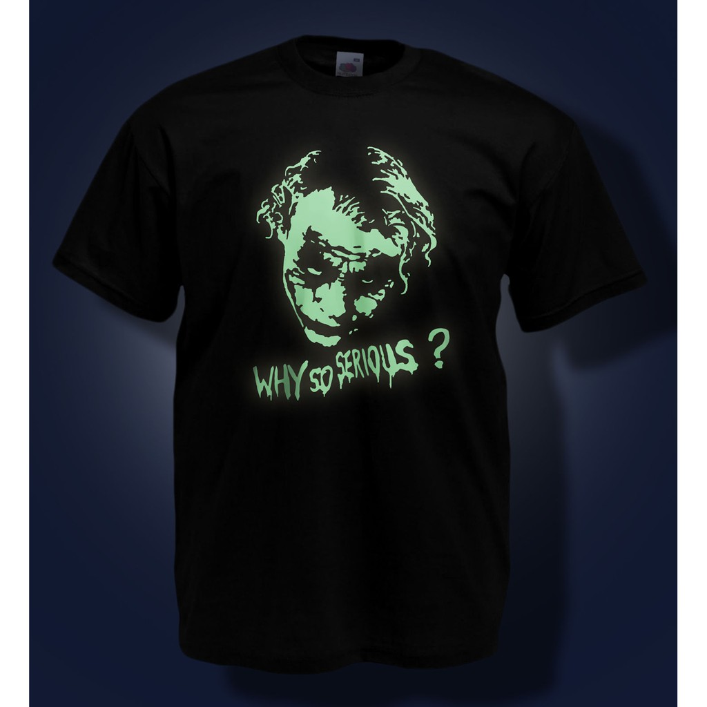 Batman Joker Logo T-shirt Why so Serious Shirt Tee 100/% Cotton Black