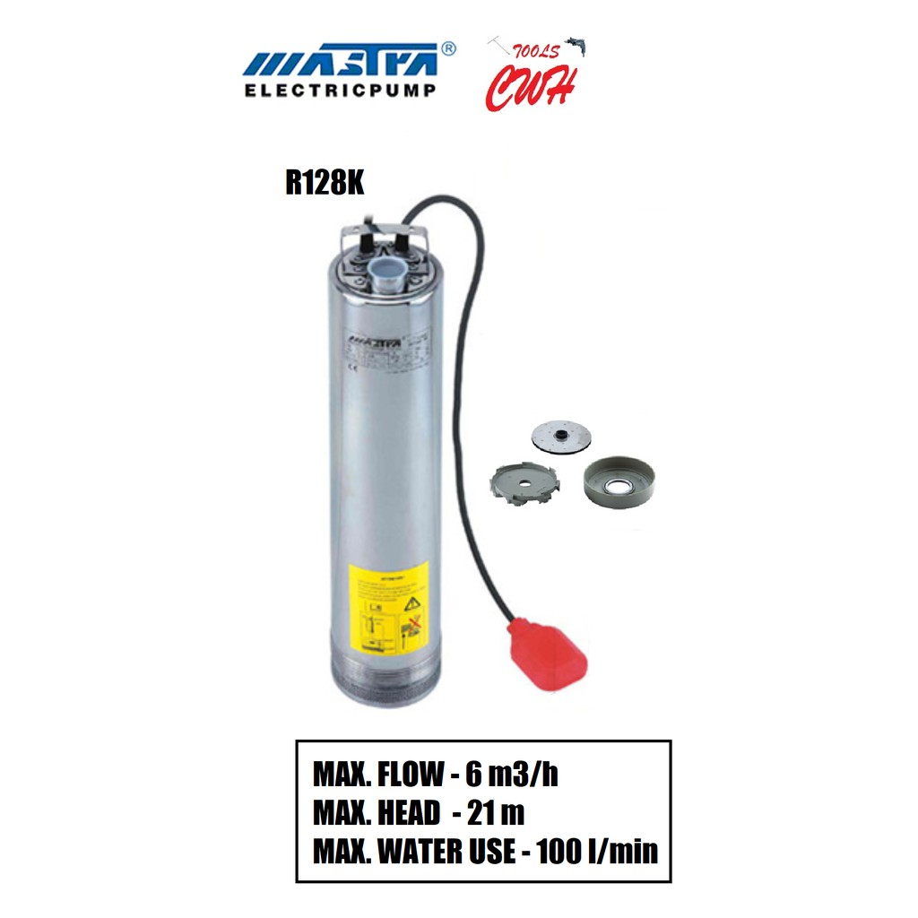 MASTRA R128K-3 R128K-4 MULTISTAGE SUBMERSIBLE PUMP WATER PUMP SEWAGE PUMP OUTDOOR PUMP GARDEN PUMP