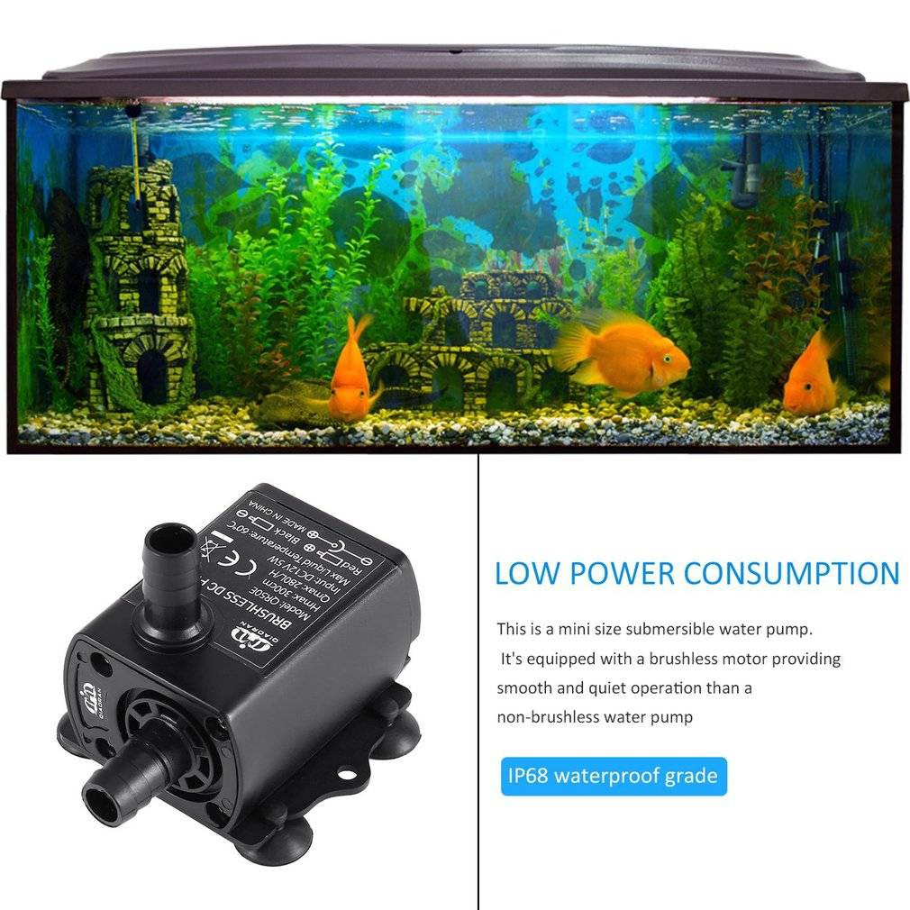 800l/h 210 Gph Submersible Water Pump For Aquarium Fish Tank Pond Fountain With Pet Supplies