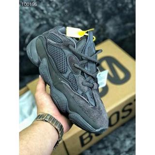 big sale 281fb 0d8f2 Original Adidas_Original Yeezy Boost 500 Utility Black Shadow Men Running  Shoes