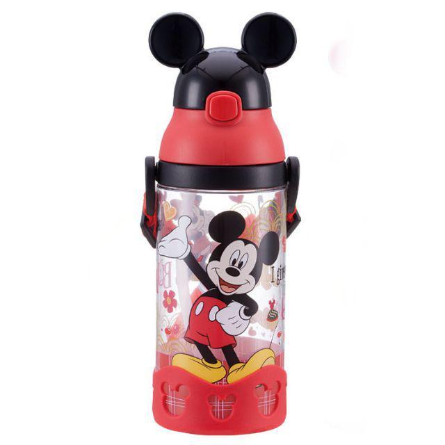 [ READY STOCK ]  500ml Disney BPA Free Leakproof Straw 3D Mickey Minnie Cartoon Kid Baby Water Bottle Jualan Murah Air