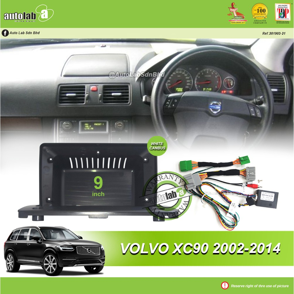 """Android Player Casing 9"""" Volvo XC90 2002-2014 (with Socket Volvo & Volvo Canbus Module + Antenna Join)"""