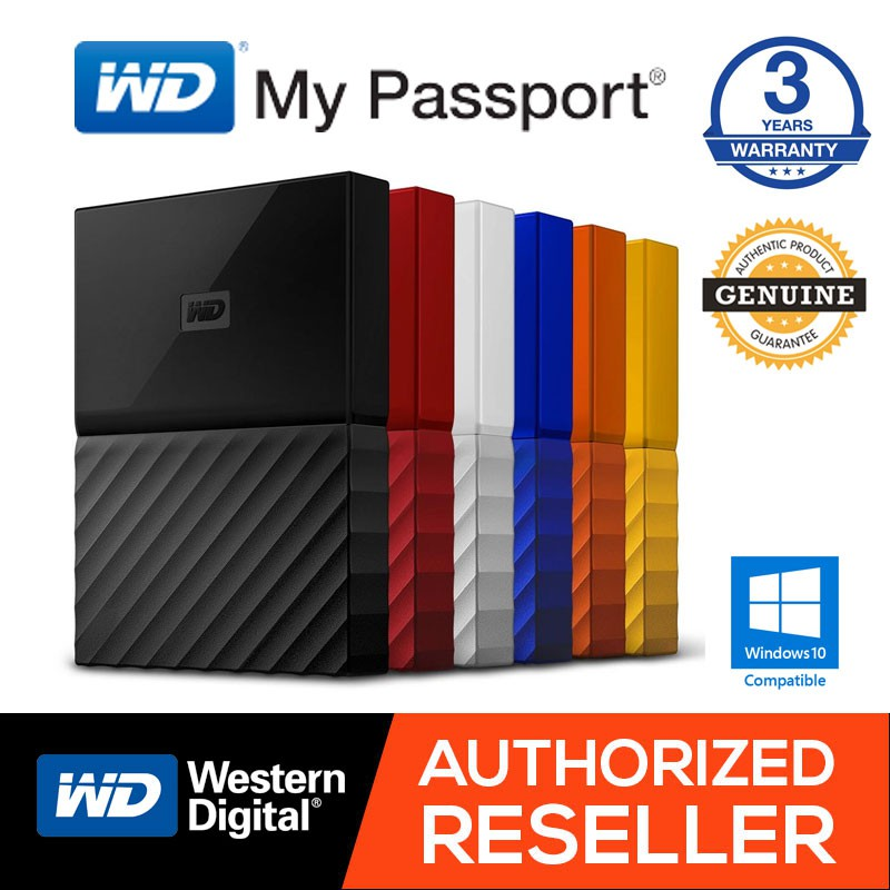 WD Western Digital HDD Passport 1TB / 2TB / 4TB Portable Storage External  Hard Drive