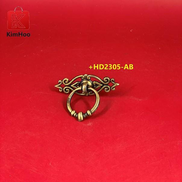 KIMHOO High Quality Vintage Furniture Cabinet Handle Knobs +HD2305-AB
