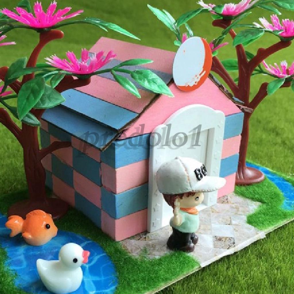 Beautiful Swan DIY Mini Miniature Fairy Garden Decor Craft Dollhouse Accessor ZD