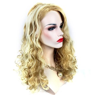 ... Fashion Blonde Long Curly Wavy Hair Extensions Wig for Halloween Costume. like: 1