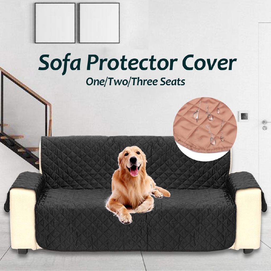 Waterproof sofa protector cover anti skid dirt proof suede pet cushion slipcover shopee malaysia