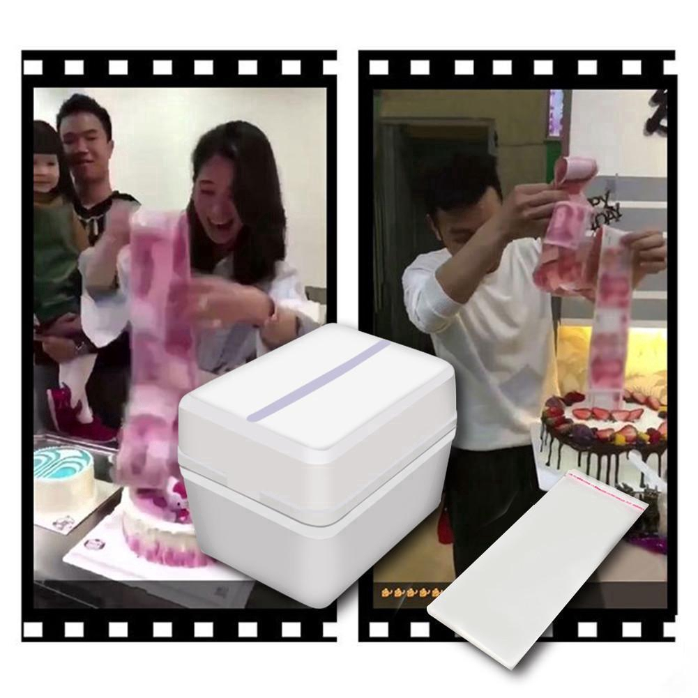 Funny Toy Box Cake Money Props Making Surprise For Birthday Banquet Party Cakes