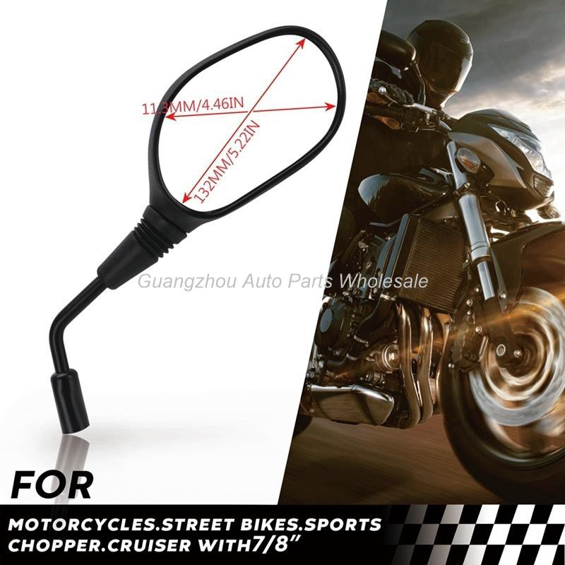 Rearview Mirror 8mm Handlebar Mount for Motorcycle Scooter Moped ATV Dirt Bike