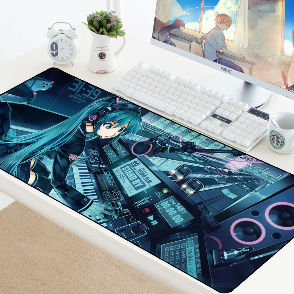 New Hatsune Miku 60*30CM Speed Game Mouse Pad Mat Laptop Gaming Mousepad