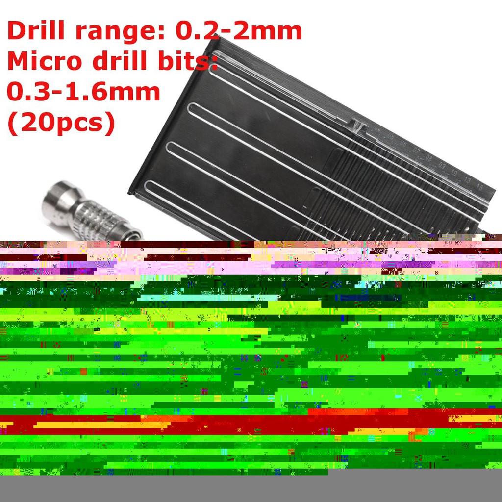 21pcs Pin Vise Hand Spiral Drill Mini Micro Drill Bits Set Index Semi-automatic