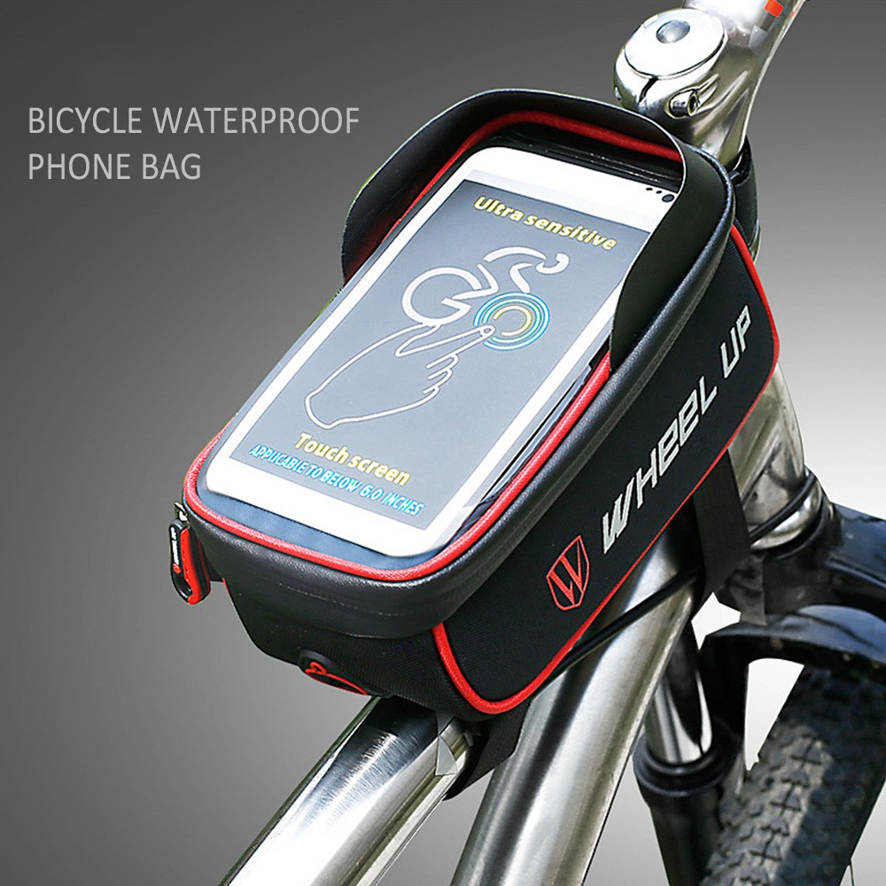 Waterproof Case Pouch Bag Mtb Bike Bicycle Frame Touch Screen For Rockbros 010 4bk Handlebar 6 Inch Iphone 7 8 Shopee Malaysia
