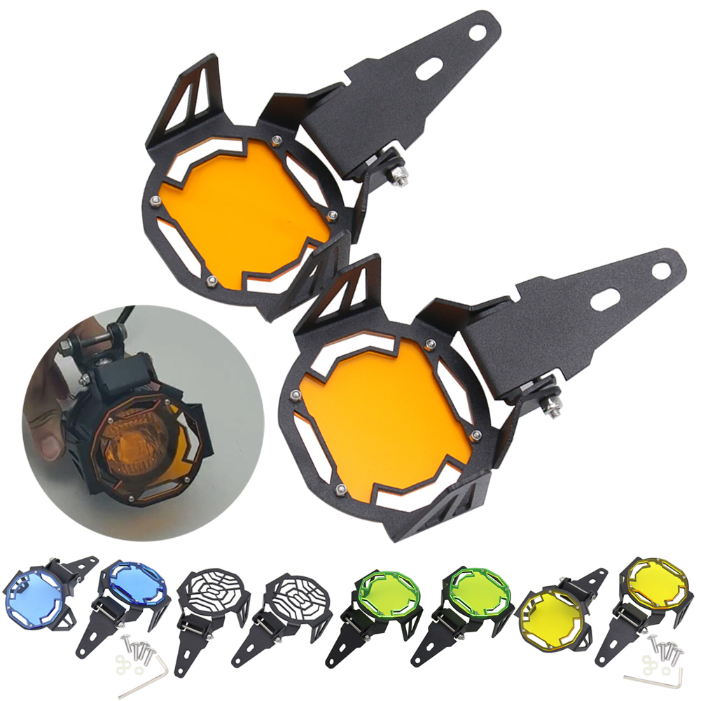 ADV LC One Pair LED Fog Light Protector Guards OEM Foglight Lamp Cover Fit BMW R1200GS Adventure F800GS Adventure R1250GS Yellow