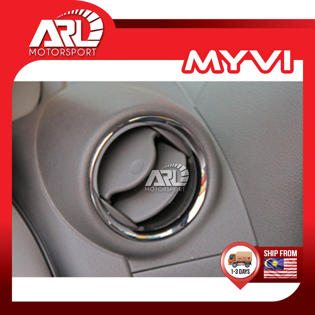 Perodua Myvi (2005 - 2011) M300 1st Gen Aircond Chrome Cover Lining Decoration Car Auto Acccessories ARL Motorsport
