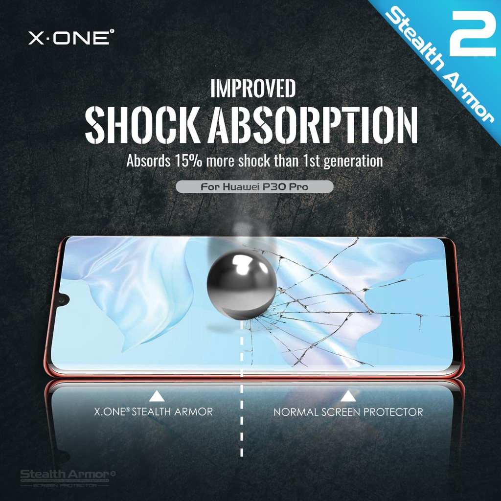 Huawei P30 Pro X-One Stealth Armor 2 ( Upgraded Version ) Screen Protector